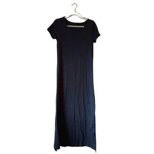 5th & Love black maxi dress short sleeve small